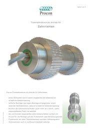 Trommelmotor als Zahnriemenantrieb - Stoewer-Getriebe.de