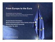 F E t th E From Europe to the Euro - Florida International University