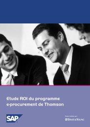 Etude ROI du programme e-procurement de Thomson - SAP.com