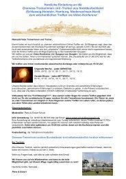 Herzliche Einladung an die Oneness-Trainerinnen ... - oneness 24
