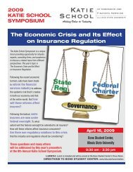 The Economic Crisis and Its Effect on Insurance Regulation