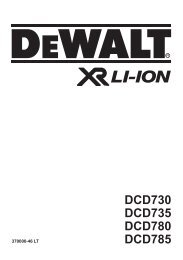 DCD730 DCD735 DCD780 DCD785 - Service - DeWalt