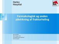 Farmakologisk og anden påvirkning af frakturheling