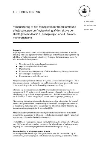 Nytænkning af den aktive beskæftigelsesindsats - Økonomi- og ...