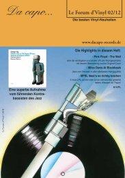 Le Forum d´Vinyl Ausgabe Februar 2012 - Da capo