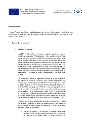 Kravspecifikation - Ny i Danmark