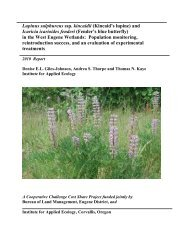 Kincaid's lupine - Institute for Applied Ecology