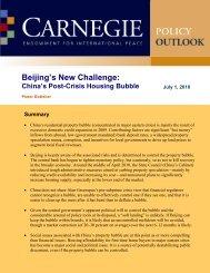 Beijing's New Challenge - Carnegie Endowment for International ...
