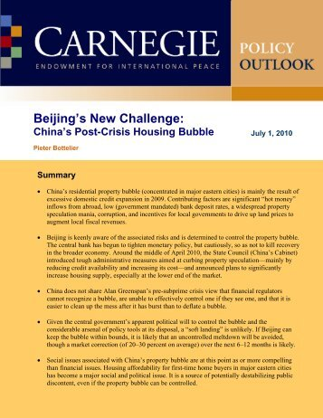 Beijing's New Challenge - Carnegie Endowment for International ...