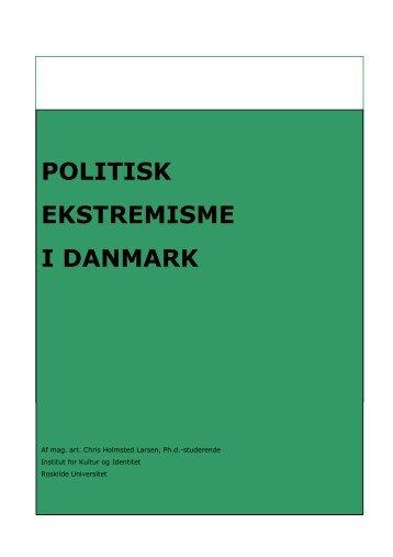 Politisk Ekstremisme I Danmark - Social