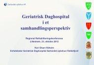Geriatrisk Daghospital i et samhandlingsperspektiv - Sunnaas ...