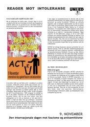 9. NOVEMBER - UNITED for Intercultural Action