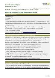 Generel klinisk studieplan Daghospitalet, Skive Modul 8: Psykisk ...