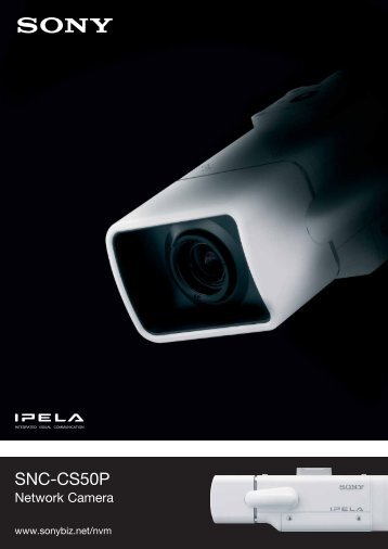 Sony SNC-CS50P IP cameras product datasheet - SourceSecurity.com