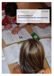 Læs evalueringsrapporten her - Folkeskolen