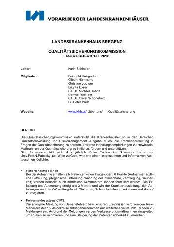Presseaussendung mit der Bitte um ... - Landeskrankenhaus Bregenz