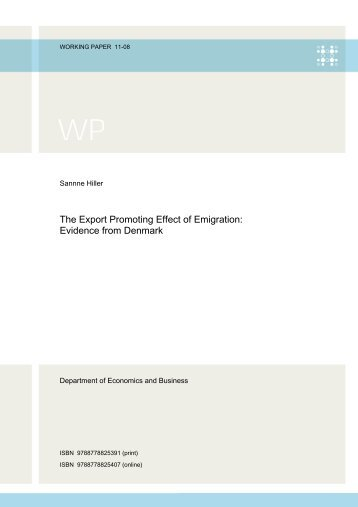 The Export Promoting Effect of Emigration: Evidence from Denmark