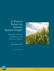 Is There a Future for Generic Biotech Crops? - Competitive ...