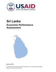 Sri Lanka Economic Performance Assessment (2009)