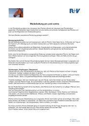 Weidehaltung pro und contra - R+V Versicherung