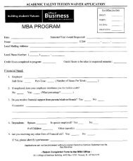 MBA PROGRAM - College of Business - Illinois State University