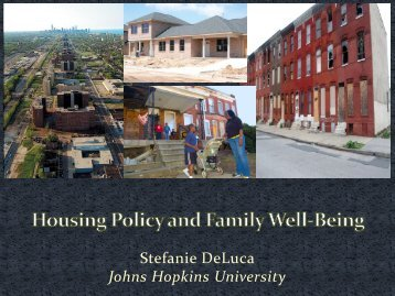 American Neighborhoods - Urban Health Institute - Johns Hopkins ...