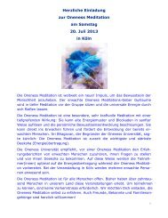 Info - Oneness 24