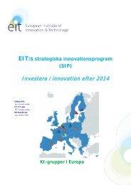 EIT Strategic Innovation Agenda 2011 - European Institute of ...