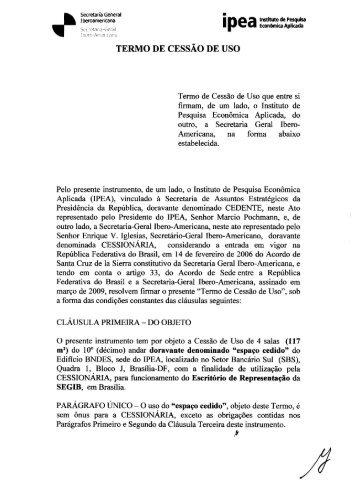 TERMO DE CESSÃO DE USO - Segib