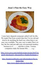 Juan's Flan the Easy Way - The Geriatric Gourmet