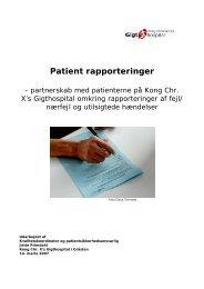 detaljeret evalueringsrapport 2007 (pdf) - Gigtforeningen
