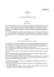 Lovforslag - Inatsisartut