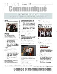 Communiqué January 2007 - College of Communications