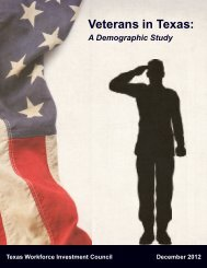 Veterans in Texas: A Demographic Study