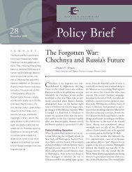 The Forgotten War: Chechnya and Russia's Future - Carnegie ...