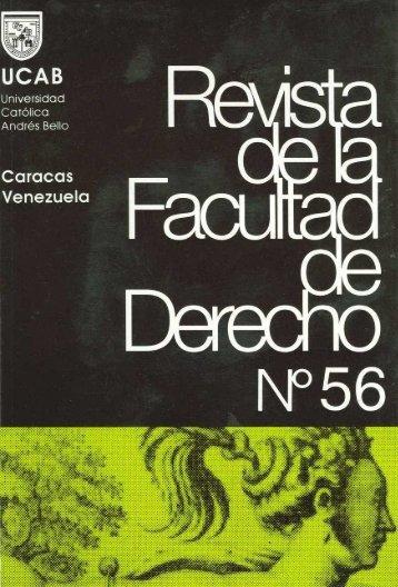 N°56 en pdf - Libros, Revistas y Tesis - Universidad Católica Andrés ...