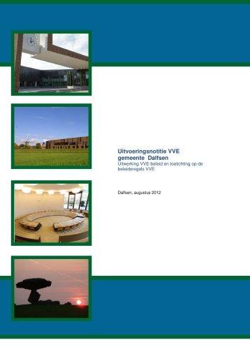 Uitvoeringsnotitie VVE gemeente Dalfsen [Klik hier om het