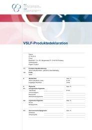 Vslf-Produktedeklaration - Bosshard Farben