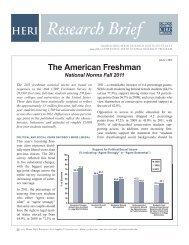 American Freshman Survey - Higher Education Research Institute ...