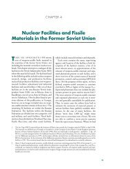 Nuclear Facilities and Fissile Materials in the Former Soviet Union