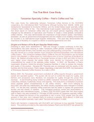 Case Tanzanian Specialty Coffee - Value Chains