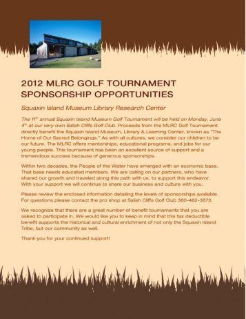 2012 mlrc golf tournament sponsorship opportunities - Thurston ...