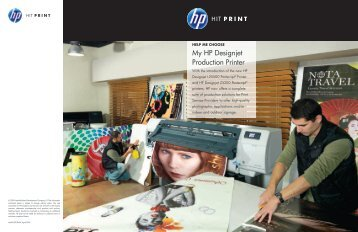 My HP Designjet Production Printer