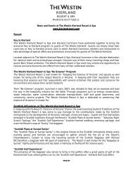 Westin Kierland News and Events Round-Up: Winter 2009/2010