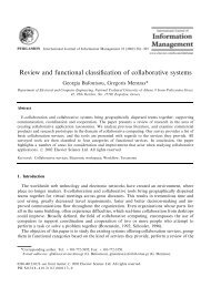 Review and functional classification of collaborative systems