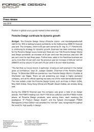 Press release - Domain: press.porsche-design.com
