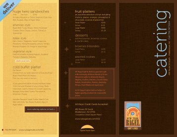 """8.5""""x11"""" Front Trifold Template - NY Bagel Cafe & Deli"""