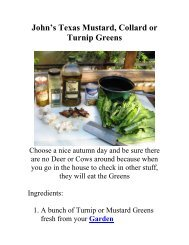John's Texas Turnip Greens - The Geriatric Gourmet