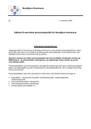 Udkast til fraværs- og fastholdelsespolitik for Norddjurs Kommune