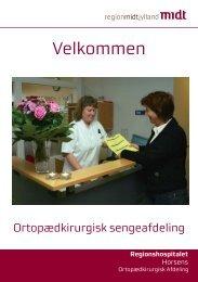 Hent velkomstfolder (PDF) - Regionshospitalet Horsens